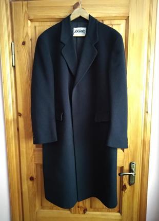 Черное мужское пальто шерсть и кашемир немецкое качество asgard размер 40