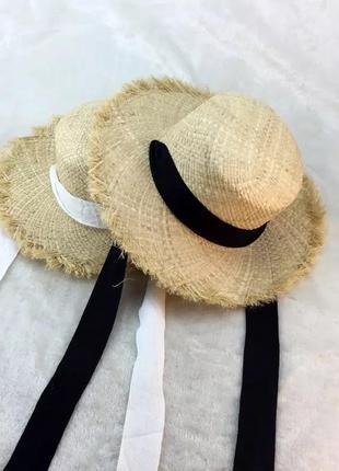 Соломенная шляпа ,шляпка на пляж