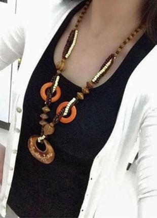Этническое украшение в стиле бохо ожерелье с кулоном кольцо bijoux, новое
