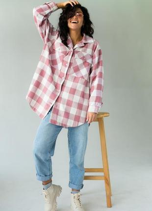Классическая клеточная рубашка с карманами ♡