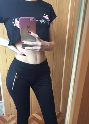 Чёрные спортивные штаны лосины новые без бирки s m
