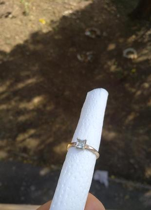 Кольцо серебряное помолвочное