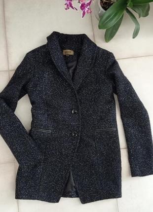 Теплый пиджак пальто с блеском 🌹 bershka с шерстью