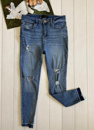 Стильные рваные джинсы v by very с необработанным низом