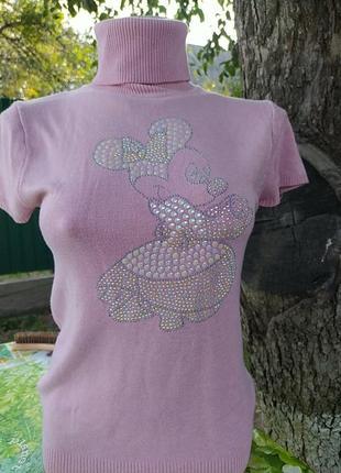 Розовая жилетка с микимаусом