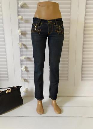 Джинсы брюки штаны скинни скини скины тёмно-синие, xs