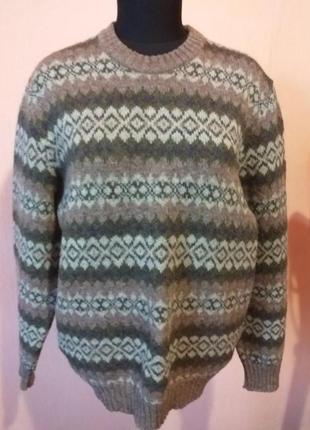 Теплый шерстяной свитер раз.48/50