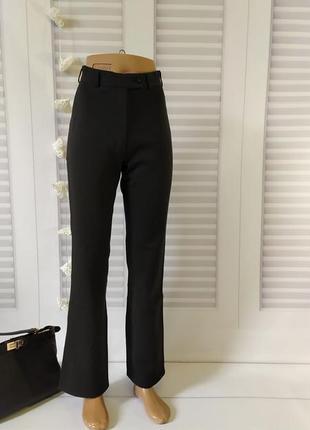 Брюки штаны классика прямые чёрные высокая посадка, s/m