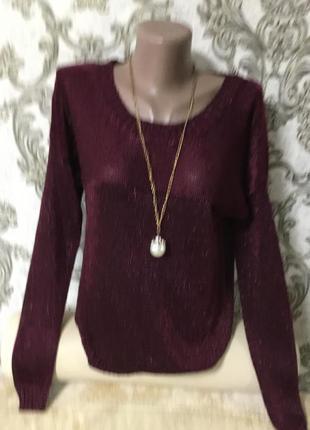 Красивый фирменный свитер oc размер 46 48