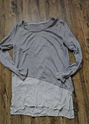 Кофточка туника с рубашкой