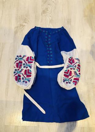 Шикарное платье вышиванка для девочки