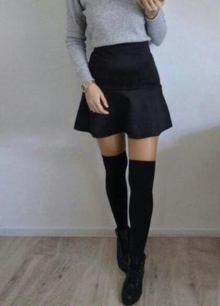 Чёрная юбка h&m