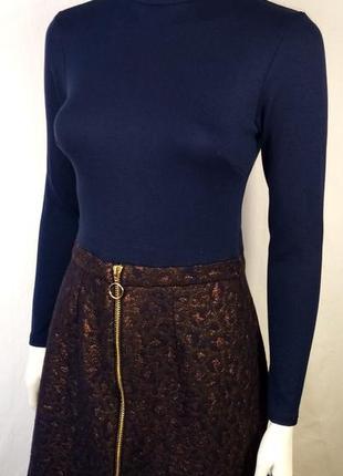 Красивое теплое платье из фактурной ткани  river island 42-44 размер