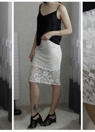 Atmosphere кружевная юбка миди