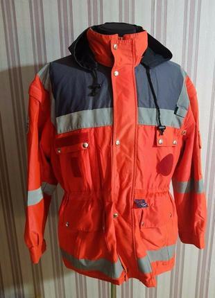 Оранжевая светоотражающая куртка красного креста размер  4xl