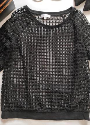 Кружевная кофточка свитшот блуза сеточка