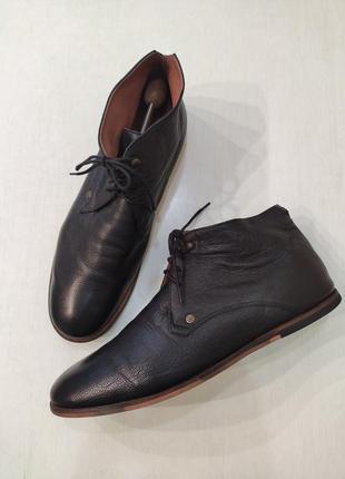 Frank wright кожаные демисезонные ботинки дезерты