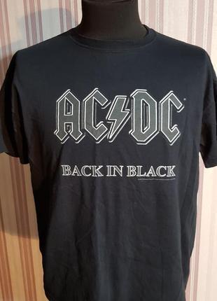 Футболка ac dc back in black размер xl