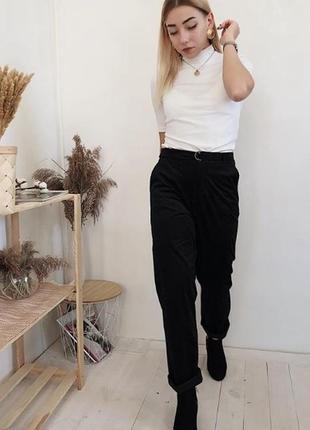 Вельветовые штаны брюки осенние черные