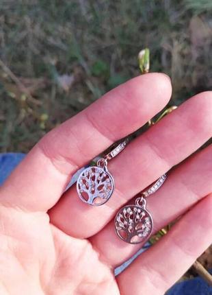 Серьги серебро 925 сережки дерево жизни 2600