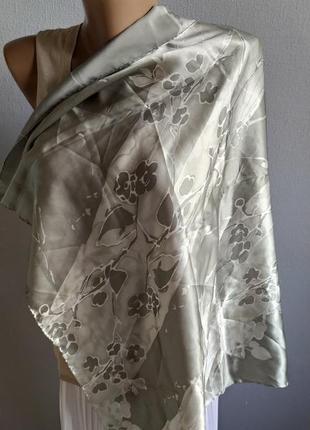 100% натуральный шелк, платок цвета нежной мяты