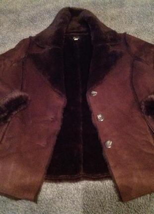 Немецкая куртка дубленка elegance 56 + подарок юбка