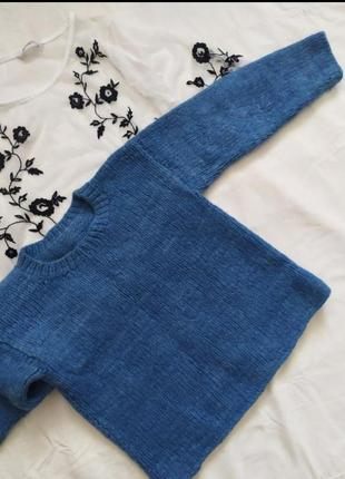Светр / свитер / кофта / вязаный  шерсть ангора / укороченный теплый / тренд актуальный