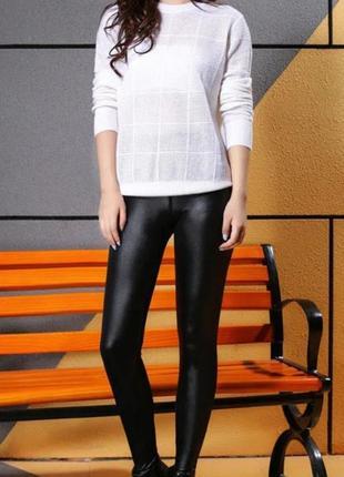 Лосини чорні тонкі з напиленням / спортивні штани лосини по фігурі від фірми topshop