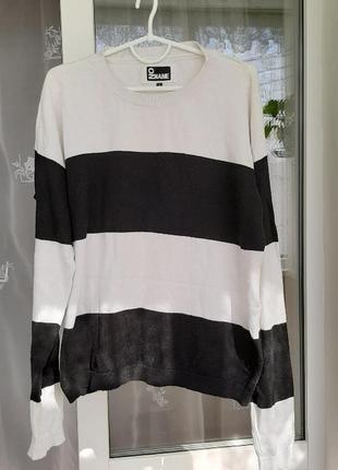 Полосатый свитерок, базовый пуловер в полоску