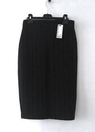 Стильная черная узкая юбка-карандаш warehouse англия