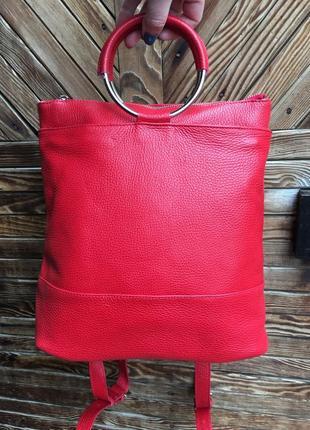 Сумка рюкзак натуральная кожа