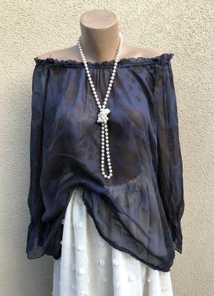 Легкая,шелковая блуза реглан,открытые плечи,туника,этно бохо стиль