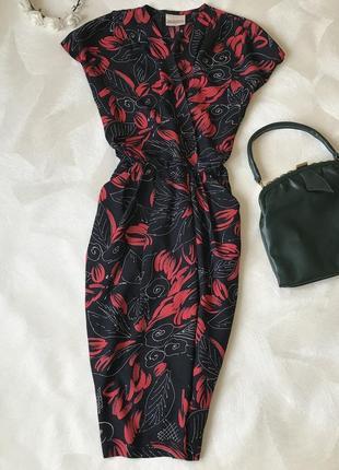 Винтажное ретро платье винтаж richards миди