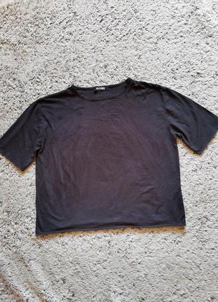 Футболка оверсайз, футболка серая в дырочку