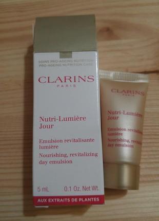 Эмульсия для лица clarins nutri-lumière jour nourishing rejuvenating day emulsion