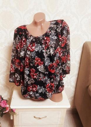 Красивая нарядная контрастная блуза