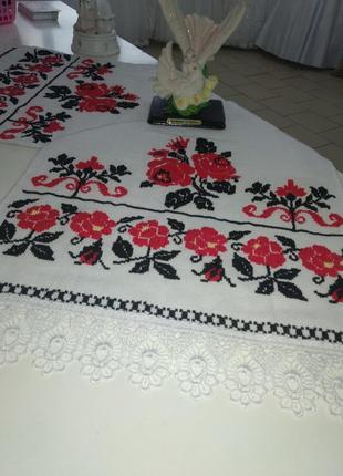 Рушник ручної роботи. весільний рушник. рози