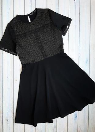 💥1+1=3 модное черное короткое платье dorothy perkins, размер 46 - 48