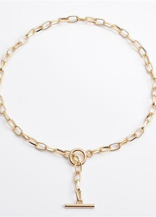Цепь цепочка чокер лассо колье ожерелье под золото новая
