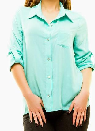 Рубашка женская  lady style мятного цвета
