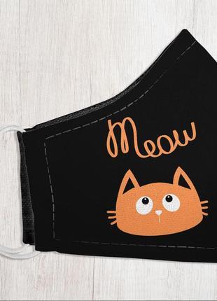 Защитная маска для лица, размер s-m meow (smm_20s060)