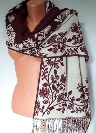 Широкий двухсторонний шарф- палантин dorothy perkins( 60 см на 180 см)