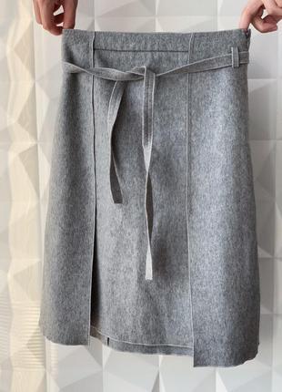 Теплая шерстяная юбка zara