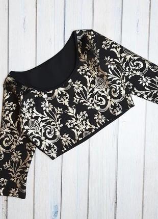 💥1+1=3 красивый черный топ свитер, размер 44 - 46