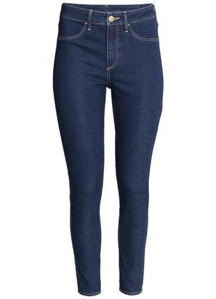 Женские джинсы темно-синего цвета h&m