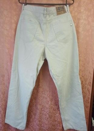 Джинсы женские белые (цвет слоновой кости)  w34 l 32 lotus jeans