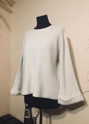 Шикарный шерстяной свитер кофта кашемир шерсть