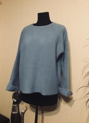 Шикарный шерстяной свитер кофта шерсть кашемир