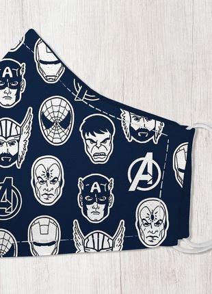 Защитная маска для лица, размер s-m супергерои (smm_20s035)
