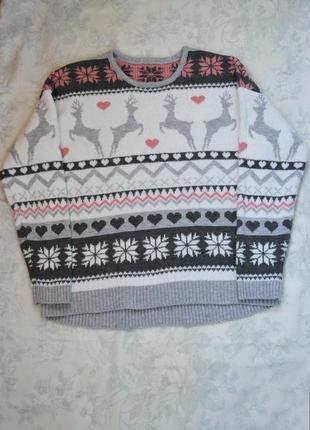 Нежный свитерок с оленями,  nu meg